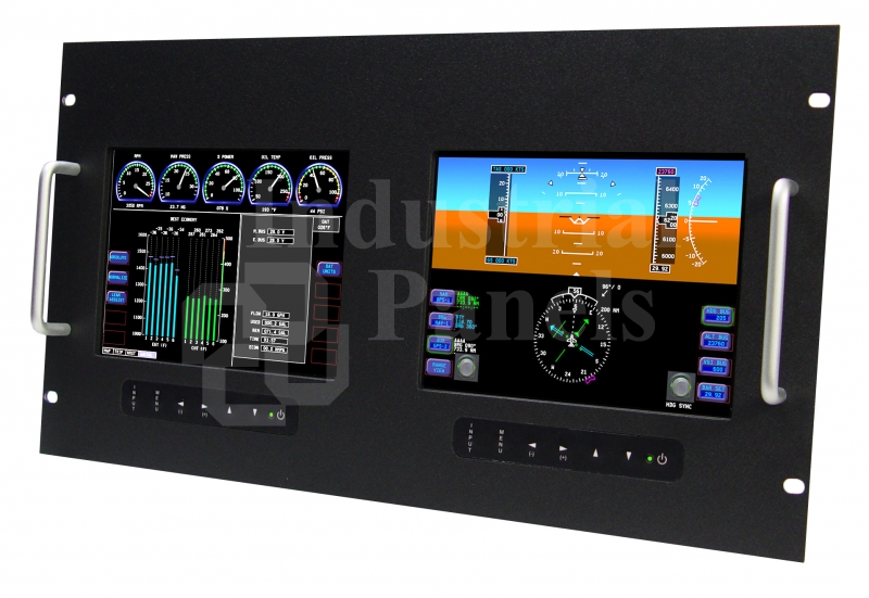 8 4 Dual Lcd Rugged Rack Mount Monitor