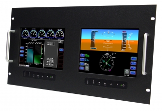 "8.4"" Dual LCD - Rugged Rack Mount Monitor"