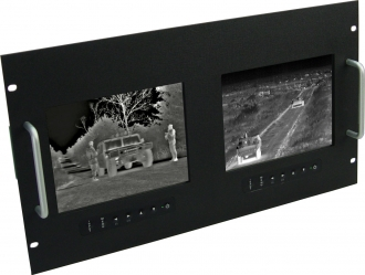 COTS COTS Monochrome Rugged Rack Mount Monitor